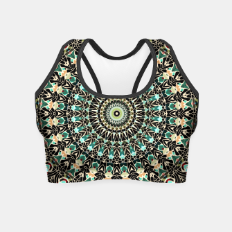 Gold Wire Mandala in Turquoise Crop Top thumbnail image