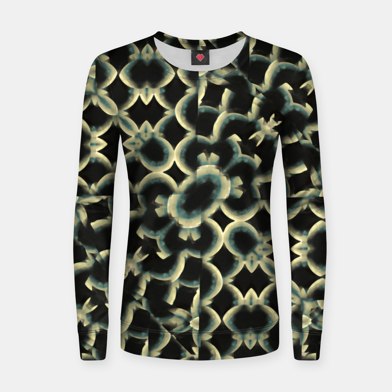 Foto Dark Interlace Motif Mosaic Pattern Women sweater - Live Heroes