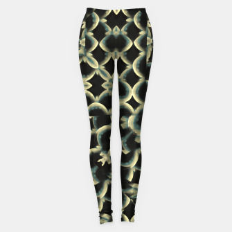 Dark Interlace Motif Mosaic Pattern Leggings Bild der Miniatur