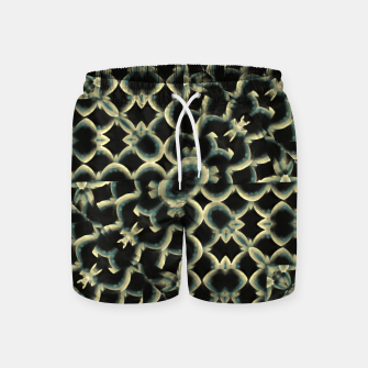 Dark Interlace Motif Mosaic Pattern Swim Shorts Bild der Miniatur
