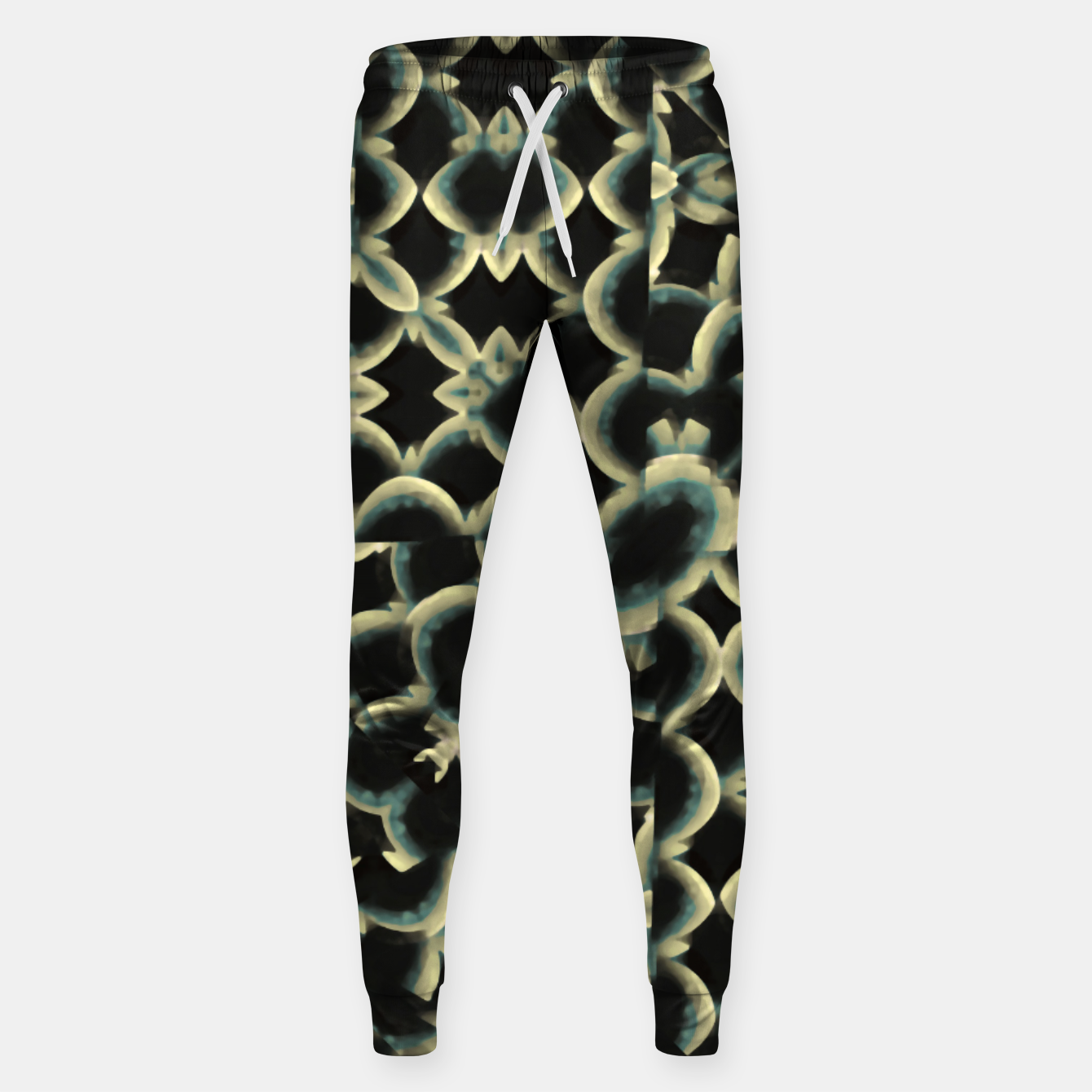 Foto Dark Interlace Motif Mosaic Pattern Sweatpants - Live Heroes