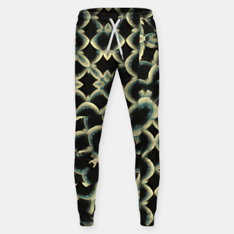 Dark Interlace Motif Mosaic Pattern Sweatpants Bild der Miniatur