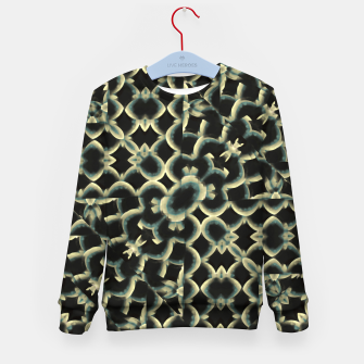 Thumbnail image of Dark Interlace Motif Mosaic Pattern Kid's sweater, Live Heroes