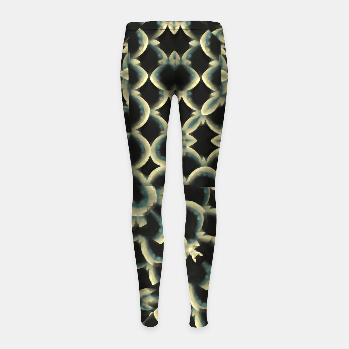 Foto Dark Interlace Motif Mosaic Pattern Girl's leggings - Live Heroes