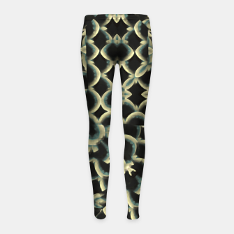 Thumbnail image of Dark Interlace Motif Mosaic Pattern Girl's leggings, Live Heroes