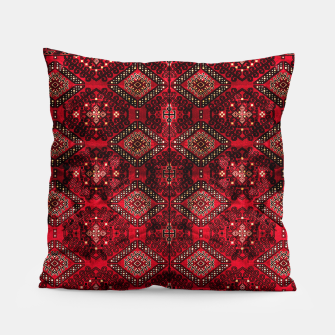 Miniature de image de Royal Red Heritage Traditional Moroccan Style Pillow, Live Heroes