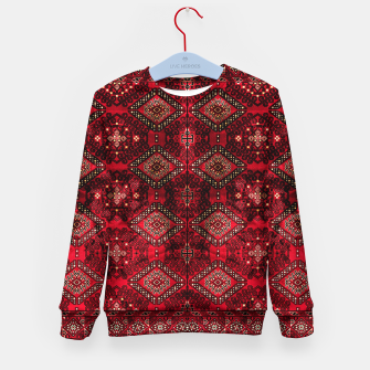 Miniatur Royal Red Heritage Traditional Moroccan Style Kid's sweater, Live Heroes