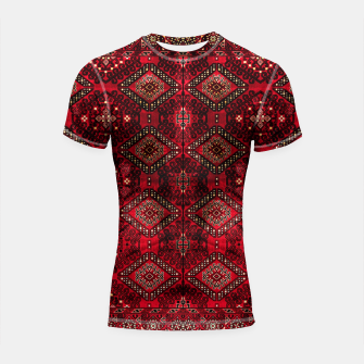 Miniatur Royal Red Heritage Traditional Moroccan Style Shortsleeve rashguard, Live Heroes