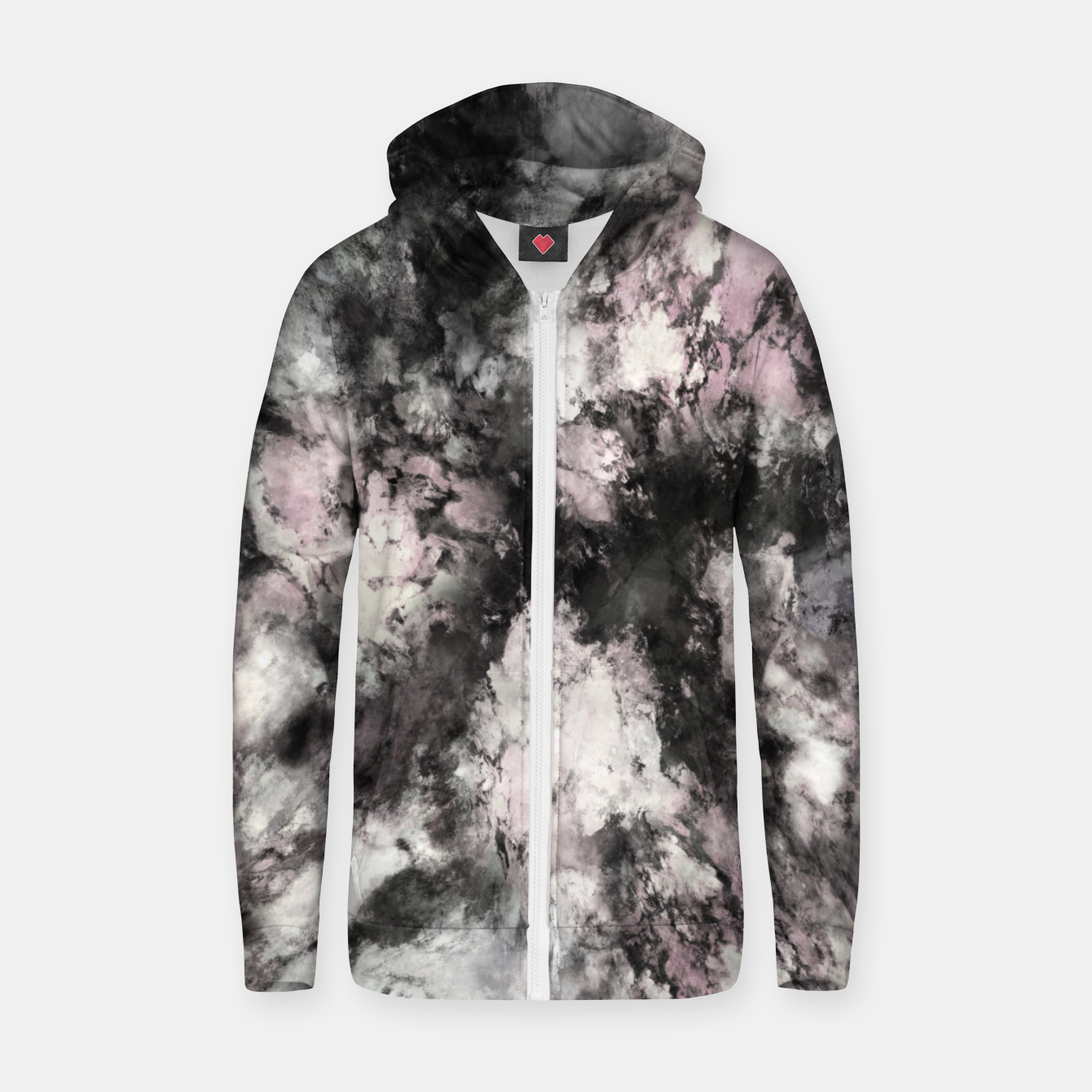 Image of A precarious situation Zip up hoodie - Live Heroes