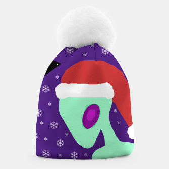 Thumbnail image of Alien wearing Santa hat beanie, Live Heroes