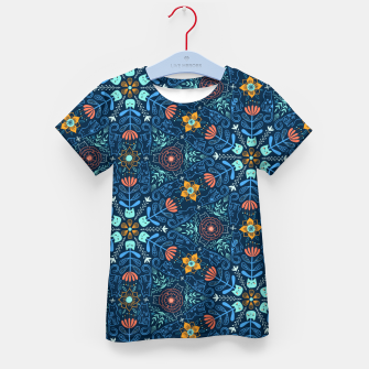 Thumbnail image of Kaleidoscope Cats Kid's t-shirt, Live Heroes