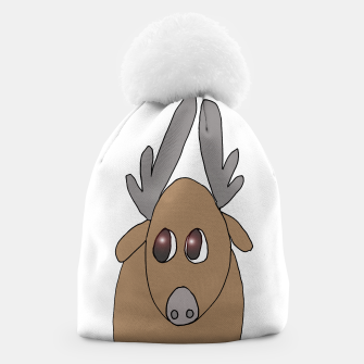 Thumbnail image of Jeff the reindeer beanie, Live Heroes