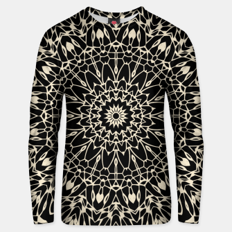 Thumbnail image of Gold Wire Mandala in Black Unisex Sweater, Live Heroes