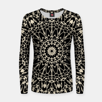 Thumbnail image of Gold Wire Mandala in Black Women Sweater, Live Heroes