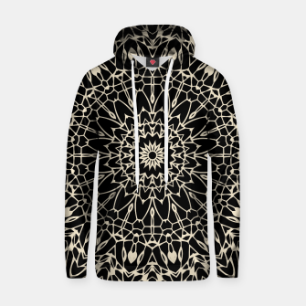 Thumbnail image of Gold Wire Mandala in Black Hoodie, Live Heroes