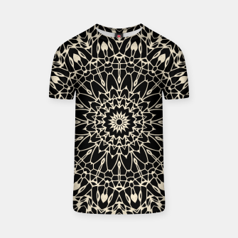 Thumbnail image of Gold Wire Mandala in Black T-shirt, Live Heroes