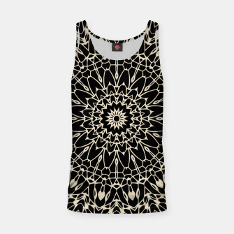 Thumbnail image of Gold Wire Mandala in Black Tank Top, Live Heroes