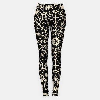 Thumbnail image of Gold Wire Mandala in Black Leggings, Live Heroes