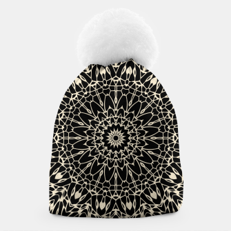 Thumbnail image of Gold Wire Mandala in Black Beanie, Live Heroes