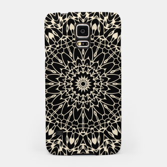 Thumbnail image of Gold Wire Mandala in Black Samsung Case, Live Heroes