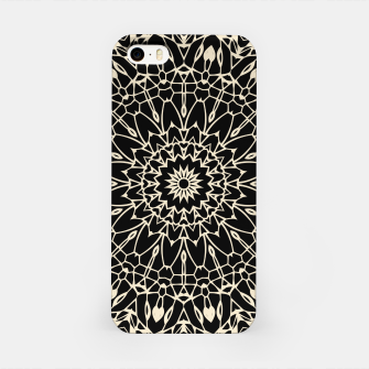 Thumbnail image of Gold Wire Mandala in Black iPhone Case, Live Heroes