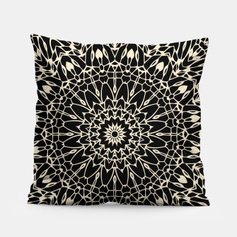 Thumbnail image of Gold Wire Mandala in Black Pillow, Live Heroes