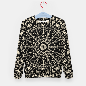 Thumbnail image of Gold Wire Mandala in Black Kid's Sweater, Live Heroes