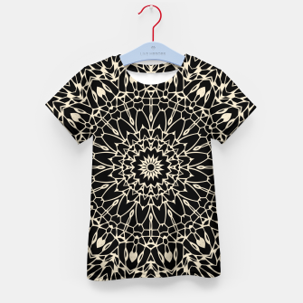 Thumbnail image of Gold Wire Mandala in Black Kid's T-shirt, Live Heroes