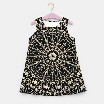Thumbnail image of Gold Wire Mandala in Black Girl's Summer Dress, Live Heroes