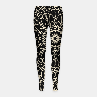 Thumbnail image of Gold Wire Mandala in Black Girl's Leggings, Live Heroes