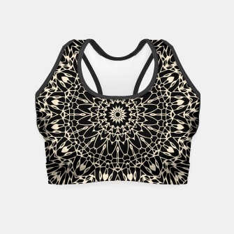 Thumbnail image of Gold Wire Mandala in Black Crop Top, Live Heroes
