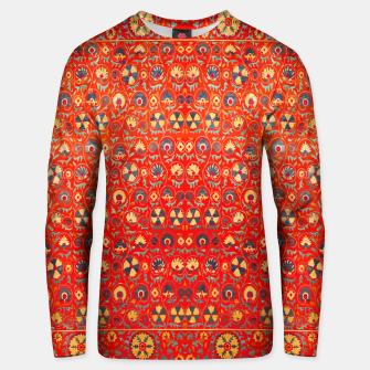 Miniatur Orange Traditional Moroccan Floral Style  Unisex sweater, Live Heroes