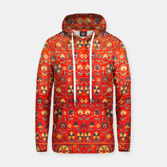 Miniatur Orange Traditional Moroccan Floral Style  Hoodie, Live Heroes