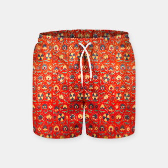 Miniatur Orange Traditional Moroccan Floral Style  Swim Shorts, Live Heroes