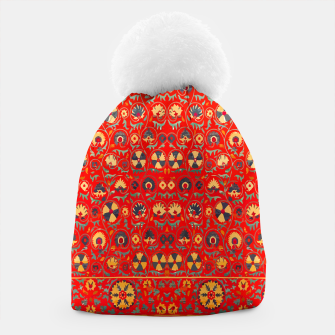 Miniatur Orange Traditional Moroccan Floral Style  Beanie, Live Heroes