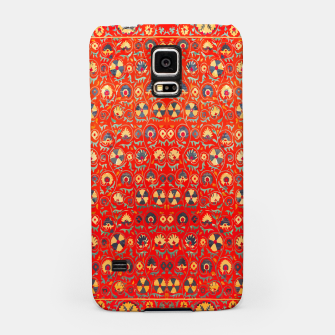 Miniatur Orange Traditional Moroccan Floral Style  Samsung Case, Live Heroes