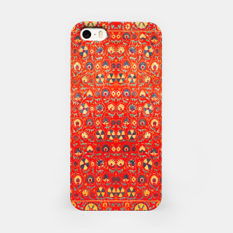 Miniatur Orange Traditional Moroccan Floral Style  iPhone Case, Live Heroes