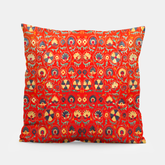 Miniatur Orange Traditional Moroccan Floral Style  Pillow, Live Heroes