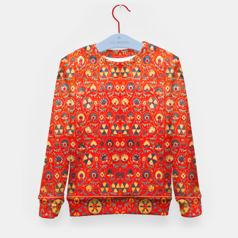 Miniatur Orange Traditional Moroccan Floral Style  Kid's sweater, Live Heroes