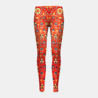 Miniatur Orange Traditional Moroccan Floral Style  Girl's leggings, Live Heroes