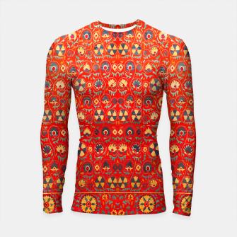 Miniatur Orange Traditional Moroccan Floral Style  Longsleeve rashguard , Live Heroes