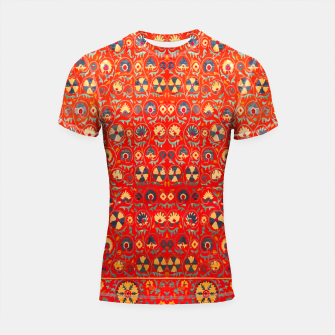 Miniatur Orange Traditional Moroccan Floral Style  Shortsleeve rashguard, Live Heroes
