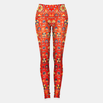 Miniature de image de Orange Traditional Moroccan Floral Style  Leggings, Live Heroes