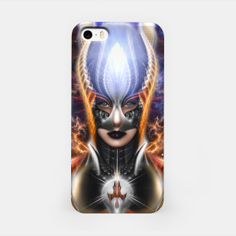 Thumbnail image of The Arzookian Princess Of Nebulous Four Fractal Art iPhone Case, Live Heroes