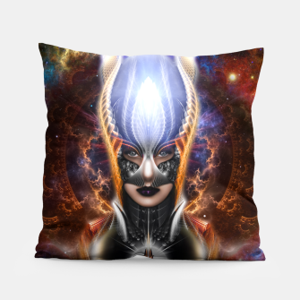 Thumbnail image of The Arzookian Princess Of Nebulous Four Fractal Art Pillow, Live Heroes