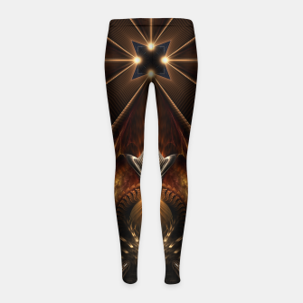 Miniatur Arteknyia Fantasy Fractal Art Composition Girl's leggings, Live Heroes