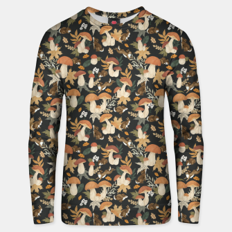 Miniatur Rabbits and mushrooms Sudadera unisex, Live Heroes