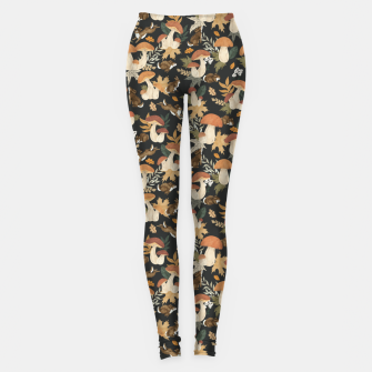 Miniatur Rabbits and mushrooms Leggings, Live Heroes