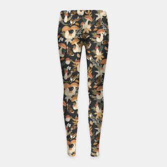 Miniatur Rabbits and mushrooms Leggings para niña, Live Heroes
