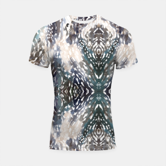Thumbnail image of Modern abstract 57b Shortsleeve rashguard, Live Heroes